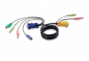 Aten 2L-5301P -  Audio / PS/2 KVM  Cable 1.2m