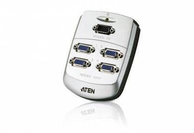 Aten VS84 - 4Port VGA Splitter Wall Plate (Plastic)