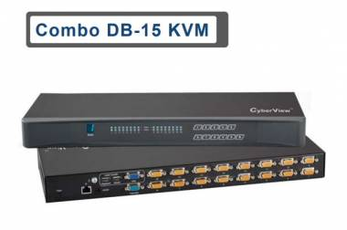 Combo DB-15 IP KVM